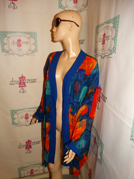 Vintage CM Shapes Colorful Throw Size 2x