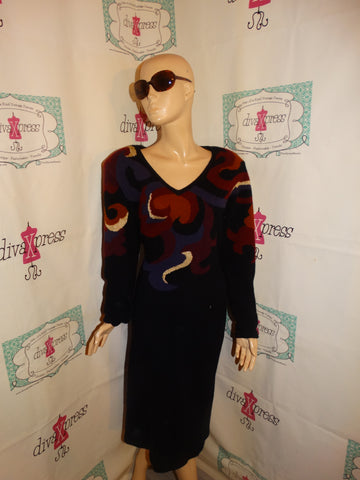 Vintage Outlander Black/Sweater Colorful Dress Size 1x