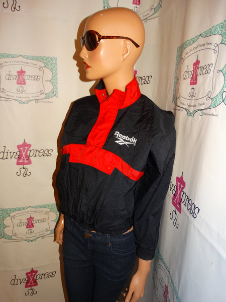 Vintage Reebok Black/REd Jacket Size Kids M