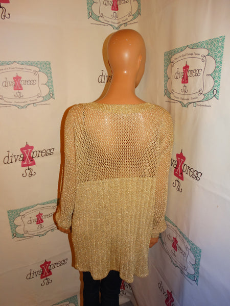 Vintage XES MY Gold Shoe Sweater Size 1x