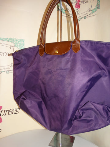 Vintage LongChamp Purple Large Bag Size L
