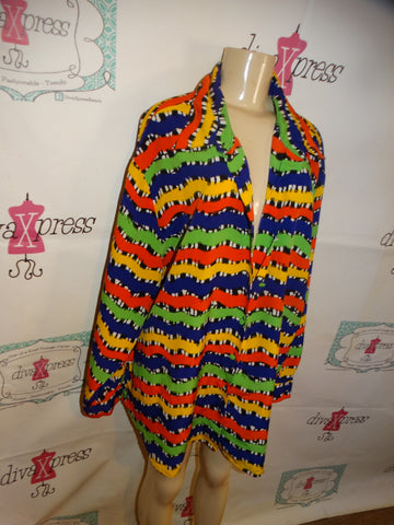 Vintage Red/Black/White Shingle Body Suit Size S