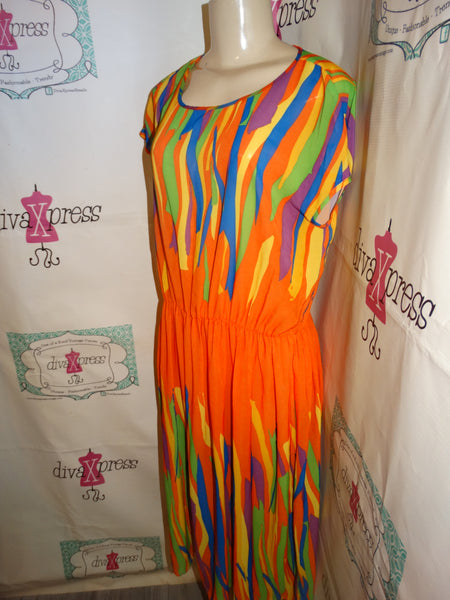 Vintage Jersey T Sheer Colorful Coverup Size XL