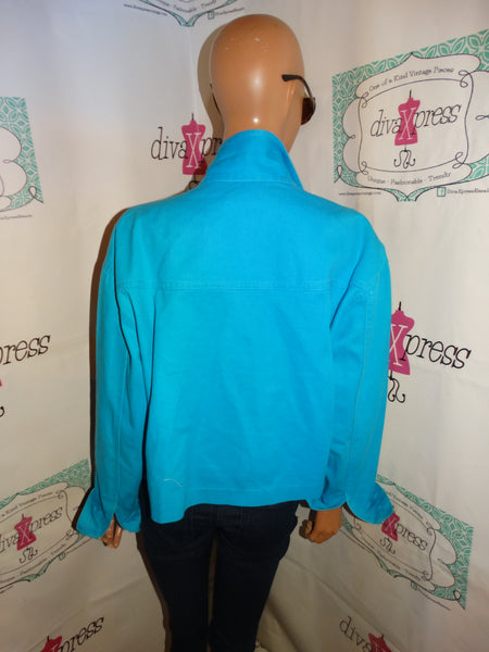 Vintage On the Verge Blue  Turquoise Crop[Jean Jacket Size L