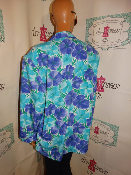 Vintage Koret Blue/Purple Blazer Size 1x