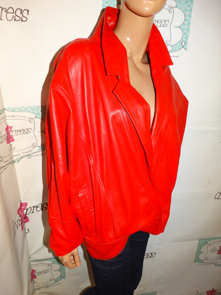 Vintage Red Leather Jacket Size 1x