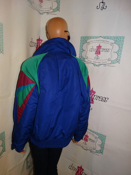 Vintage XCT Roff Purple Colorful Puff Ski Coat Size XL