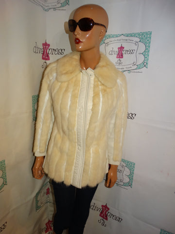 Vintage The Borne March Authentic Leather/Mink Coat Size S