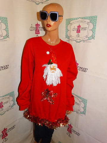 Vintage REd Custom Ugly Christmas Sweater Size 3x