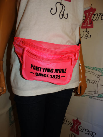 Vintage Pink Neon Fanny Pack
