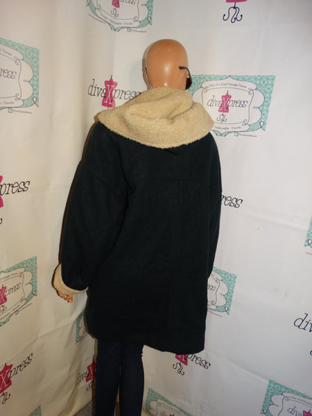 Vintage The Limited Green/Blue Coat Size 1x