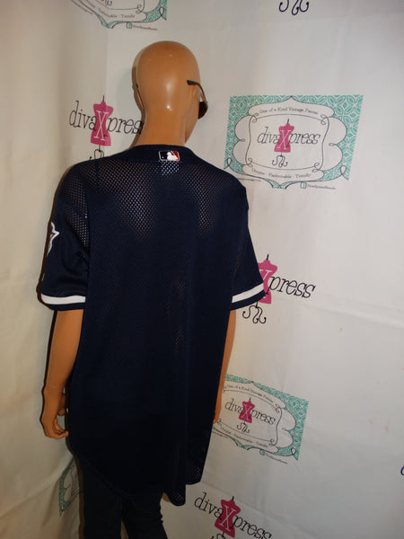 Vintage Majestic Blue/White New York Yankees Jersey Size L