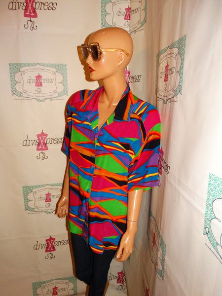 Vintage Peter Nygard Colorful Blouse Size L