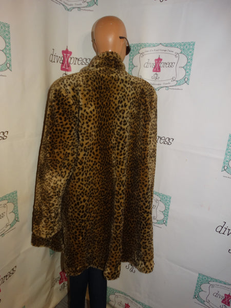 Vintage Marvin Richards Leopard Throw Coat Size 3x