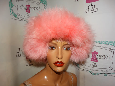 Vintage Pink Fox Head Band