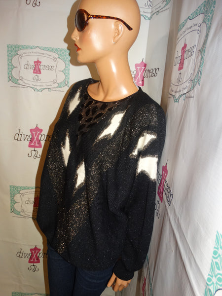Vintage John Lawrence Black/White Sweater Size 2x