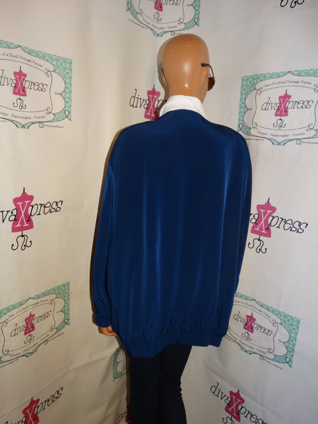 Vintage Silver Threads Blue/White Jacket Size 3x