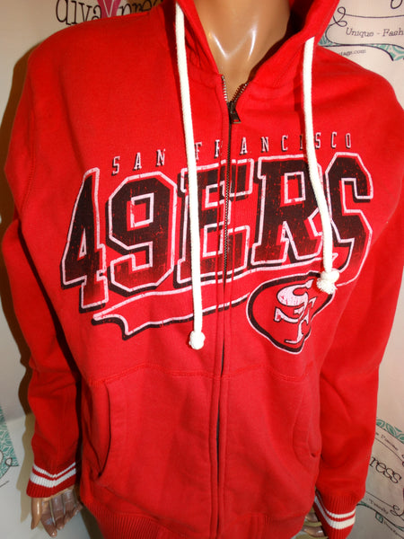 Vintage Mitchell & Ness Red 49ers Jacket Size M