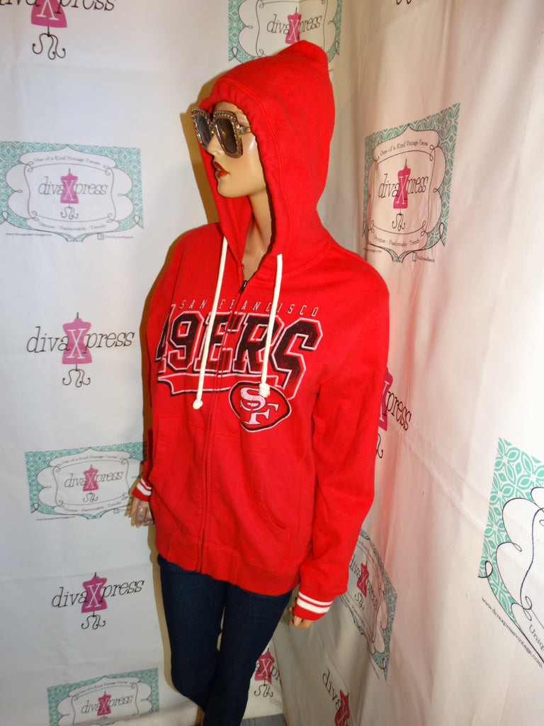 quality design f4a92 31056 Vintage Mitchell & Ness Red 49ers Jacket Size M