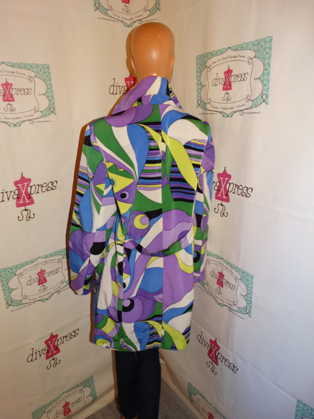 Vintage Regal Legacy Purple Colorful Long Jacket Size M