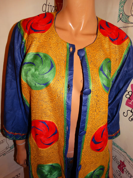 Vintage Purple Colorful Top/Throw Size 3x