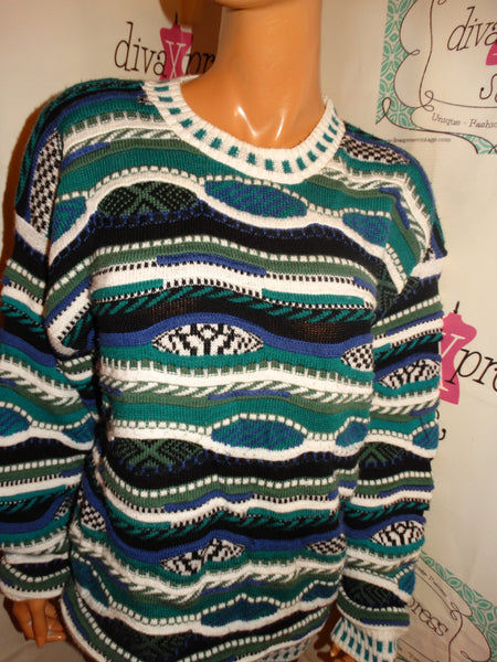Vintage Protege Coogi Style Sweater size L