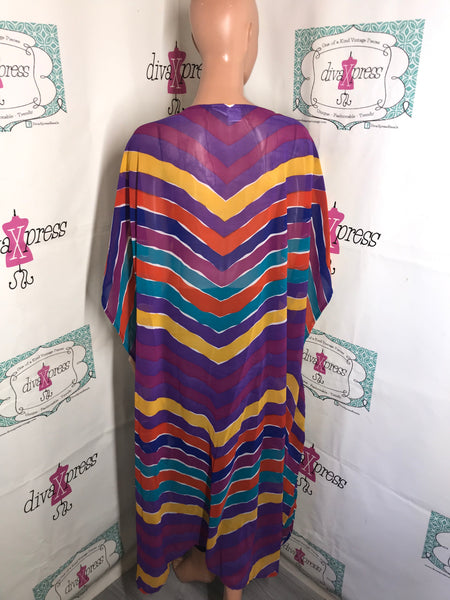 Vintage Romans  Colorful Duster Size 2x