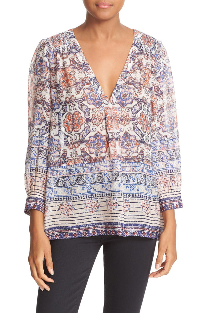 15987c180a9ae4 Joie  Aceline  Printed Silk Blouse