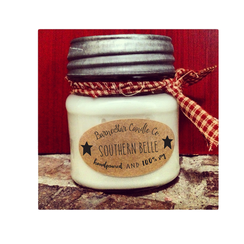 8 oz. Square Mason Soy Candle - Leather & Lace