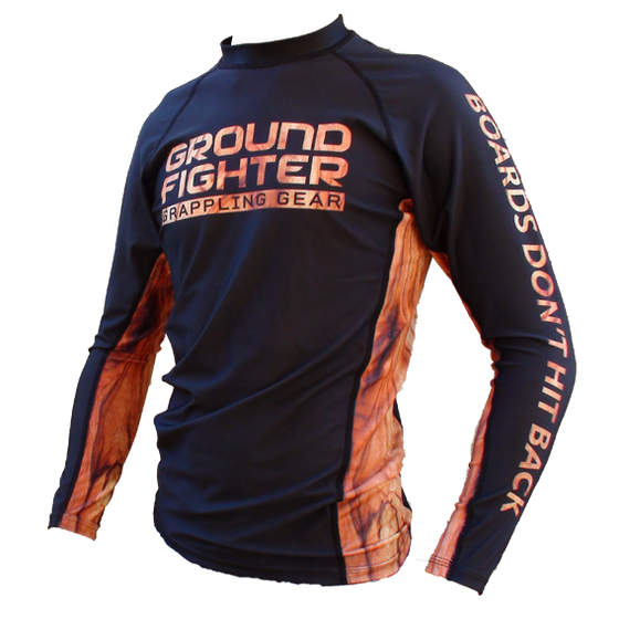 Ground Fighter Boards Dont Hit Back Jiu-Jitsu Rashguard