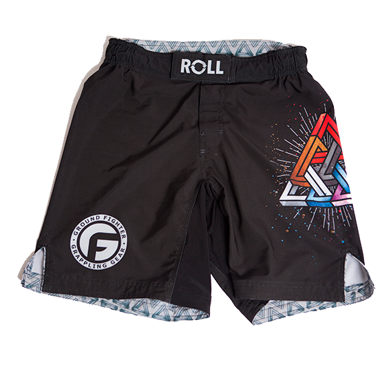 Triangle Pyramid Grappling Shorts - Black