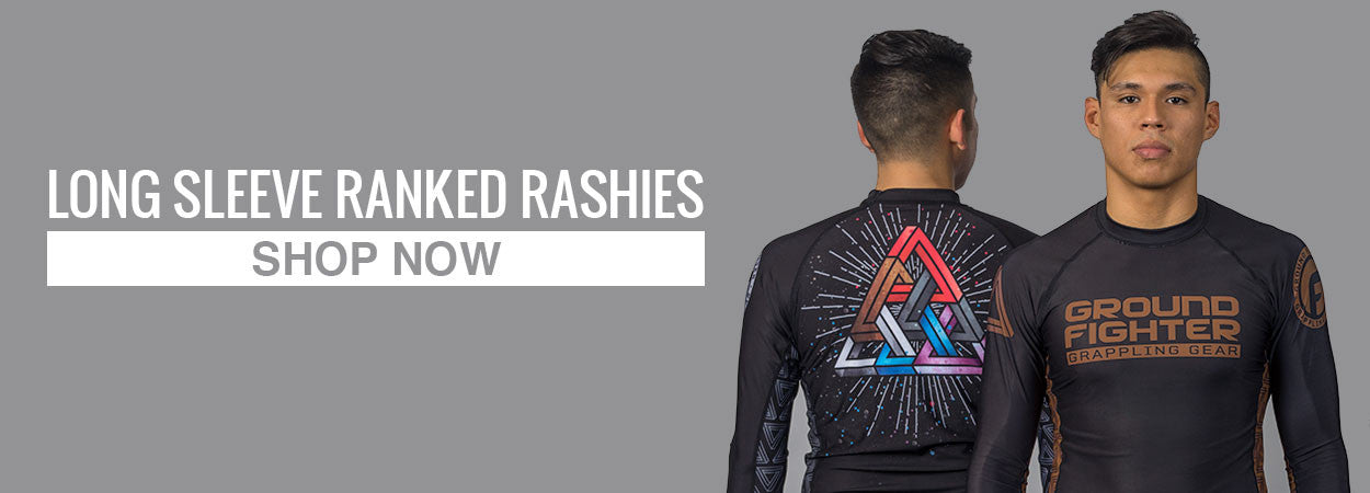 Ground Fighter BJJ Triangle Pyramid Rashguard