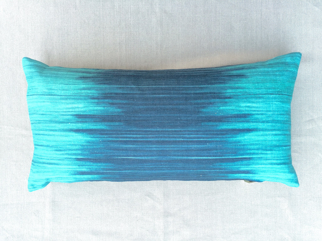 Tie Dye Pillow/ Teal and Blue