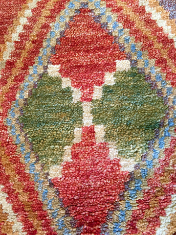 Tibetan carpet with Diamond Motif • 5.9 x 7.8