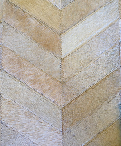 Herringbone Patchwork Cowhide in Vanilla • 4.9 x 7.11