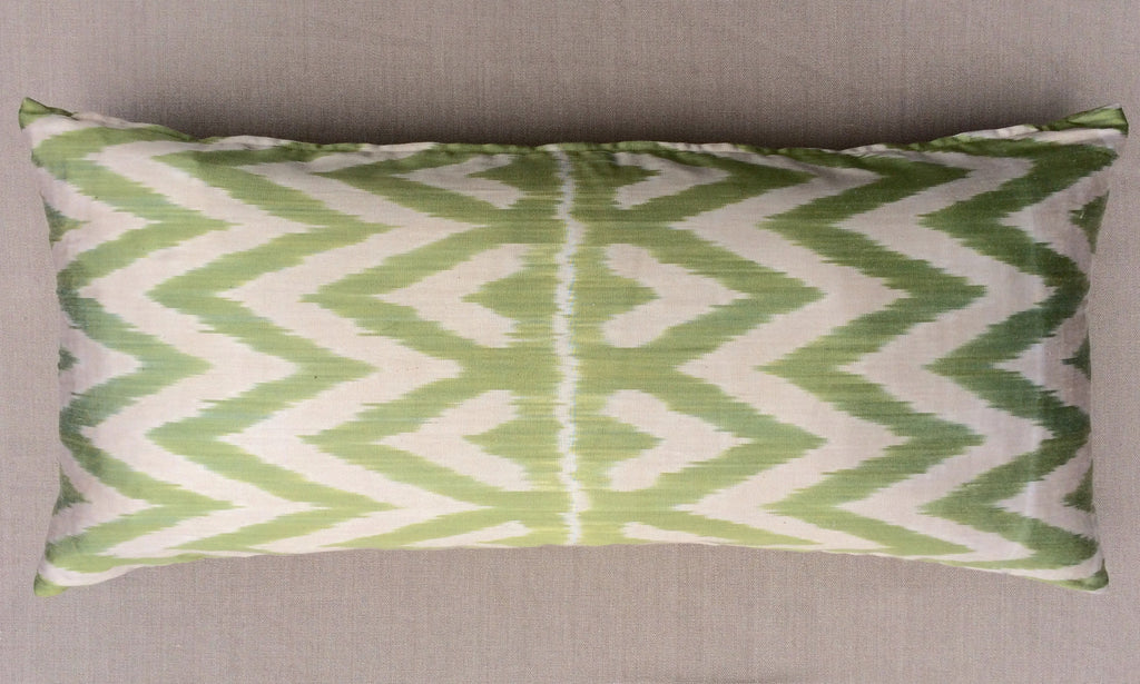 Rectangular Silk Zig Zag Pillow