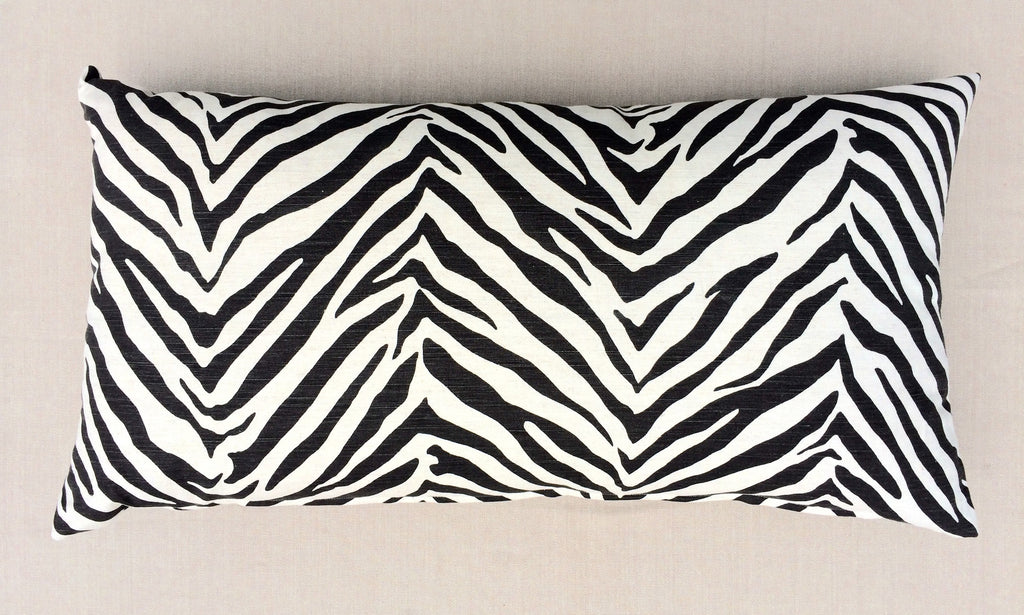 Rectangular Zebra Pillow