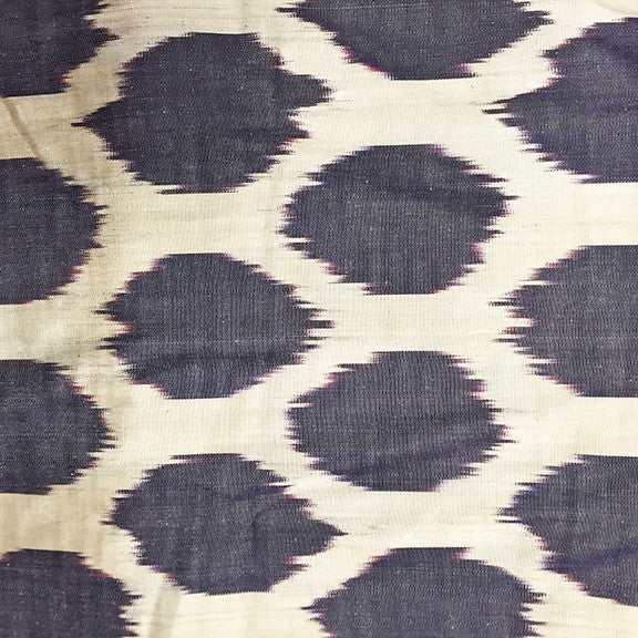 Vintage Silk Turkish Ikat • Purple Dot