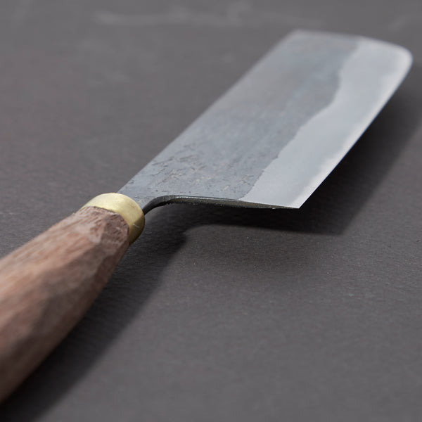 Daitoku Blue #2 Kurouchi Nakiri 120mm Walnut Handle | Tosho Knife Arts