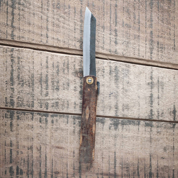 Higonokami Custom Folding Knife X Large Brass Handle (#12) | Tosho Knife Arts