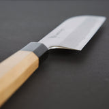 Nenohi Kasumi White Kamagata Usuba 180mm Ho Wood Handle | Tosho Knife Arts