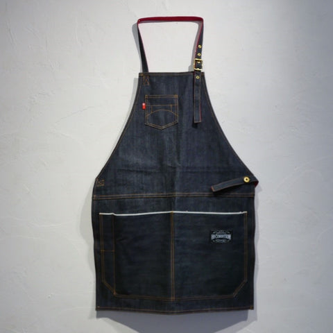 HI-CONDITION Selvage Denim Full Apron Blue Large | Tosho Knife Arts