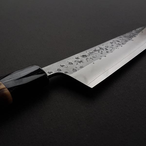 Konosuke YS Polished Kurouchi Gyuto 210mm Burnt Chestnut Handle (Prototype Finish)