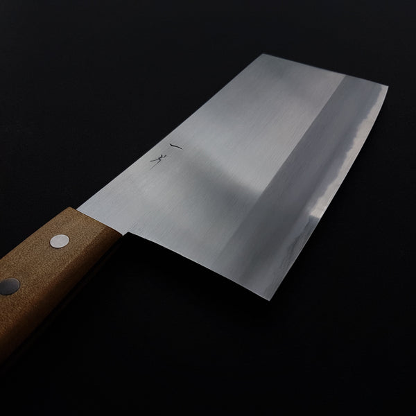 Hitohira Togashi White #2 Chinese Cleaver 220mm Agathis Handle (#7)