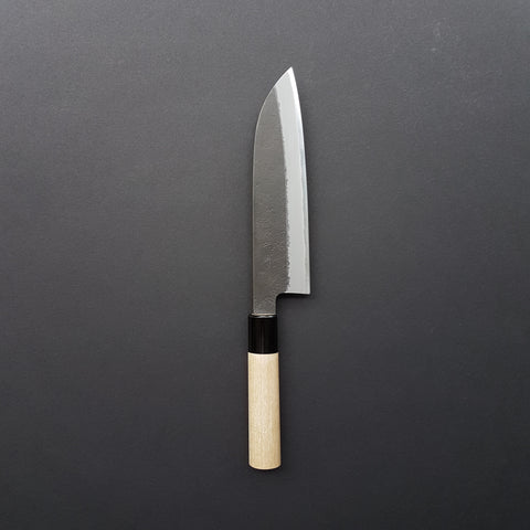 Hitohira Hinode Nashiji White #2 Stainless Clad Santoku 180mm Ho Wood Handle