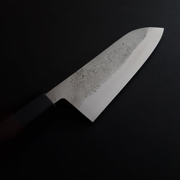 Hitohira NM Nashiji Santoku 165mm Rosewood Handle
