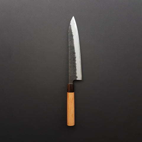 Hitohira Futana SB Kuro Nashiji Gyuto 210mm Cherry Wood Handle