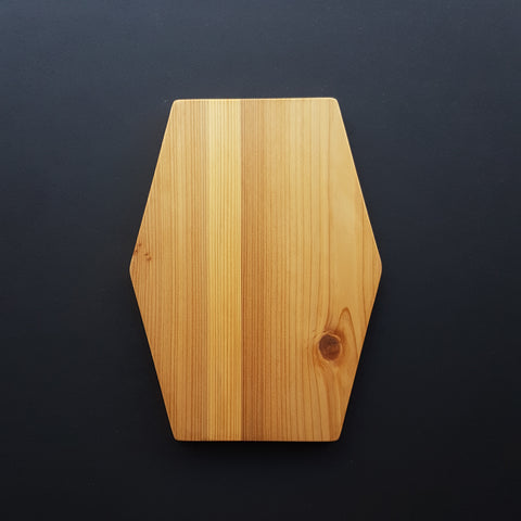 Bambu Cedar Wood Hex Serving Board - Medium