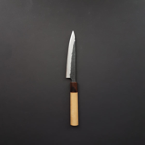 Hitohira Futana SB Kuro Nashiji Petty 135mm Cherry Wood Handle