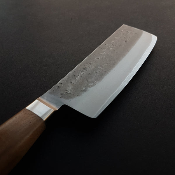 Tadafusa Nashiji Blue #2 Nakiri 150mm Walnut Handle
